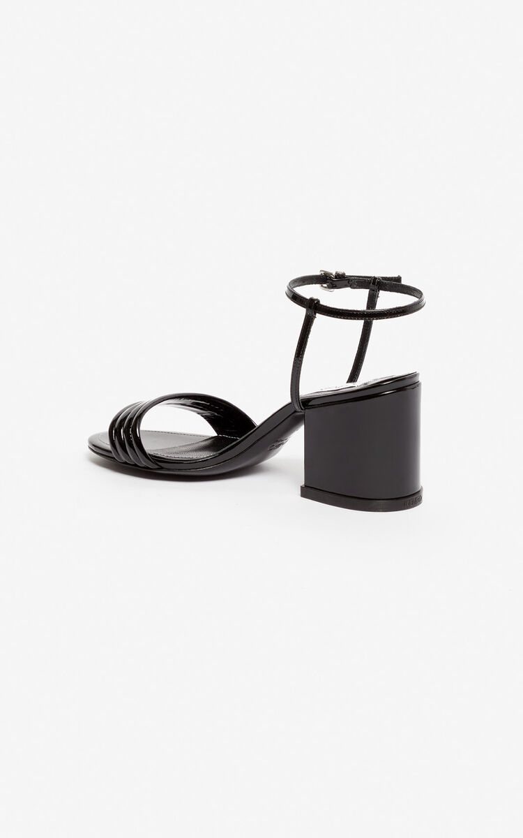 BLACK Ana high-heeled sandals for unisex KENZO