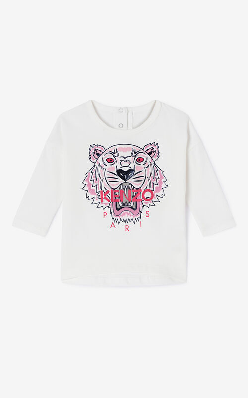 ECRU Tiger Long T-shirt for women KENZO