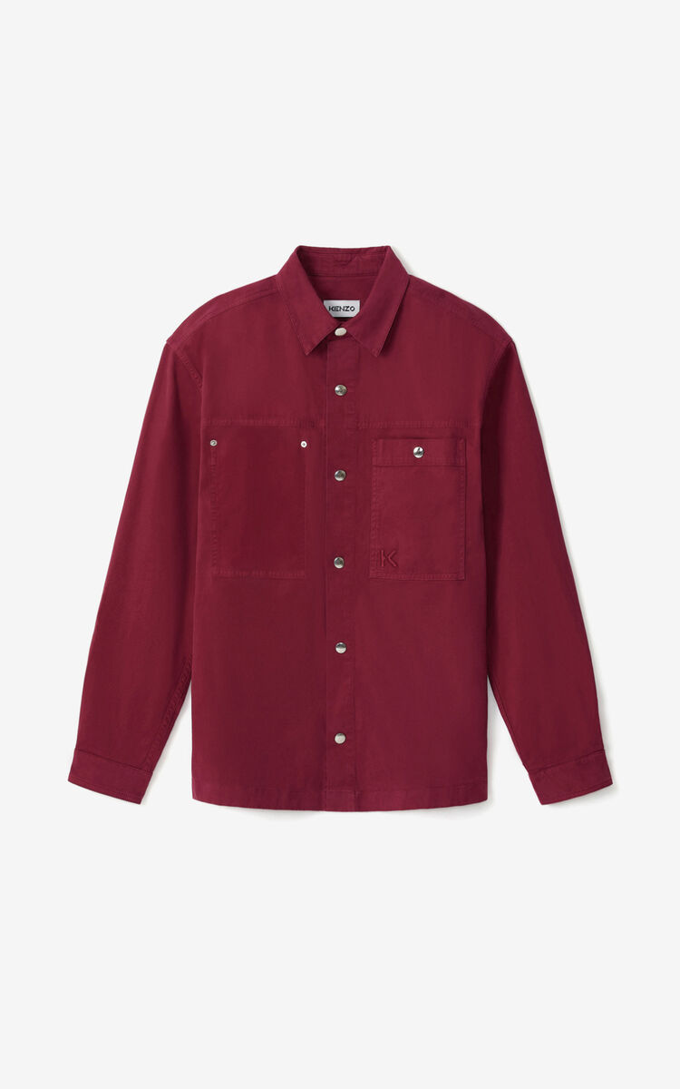 MAGENTA Overshirt with press studs for men KENZO