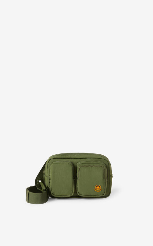 KHAKI Tiger Crest belt bag for unisex KENZO