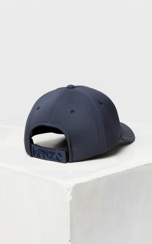 ANTHRACITE Neoprene 'Dragon Tiger' cap for unisex KENZO