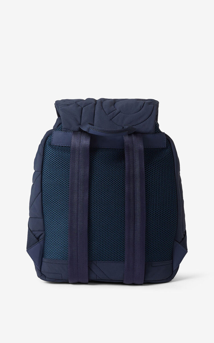 NAVY BLUE Arctic nylon backpack for women KENZO