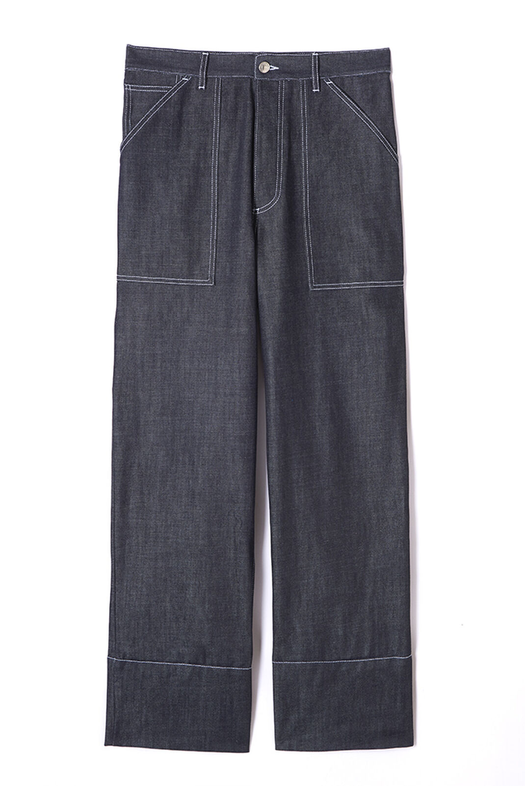 NAVY BLUE High waisted wide leg jeans for women KENZO