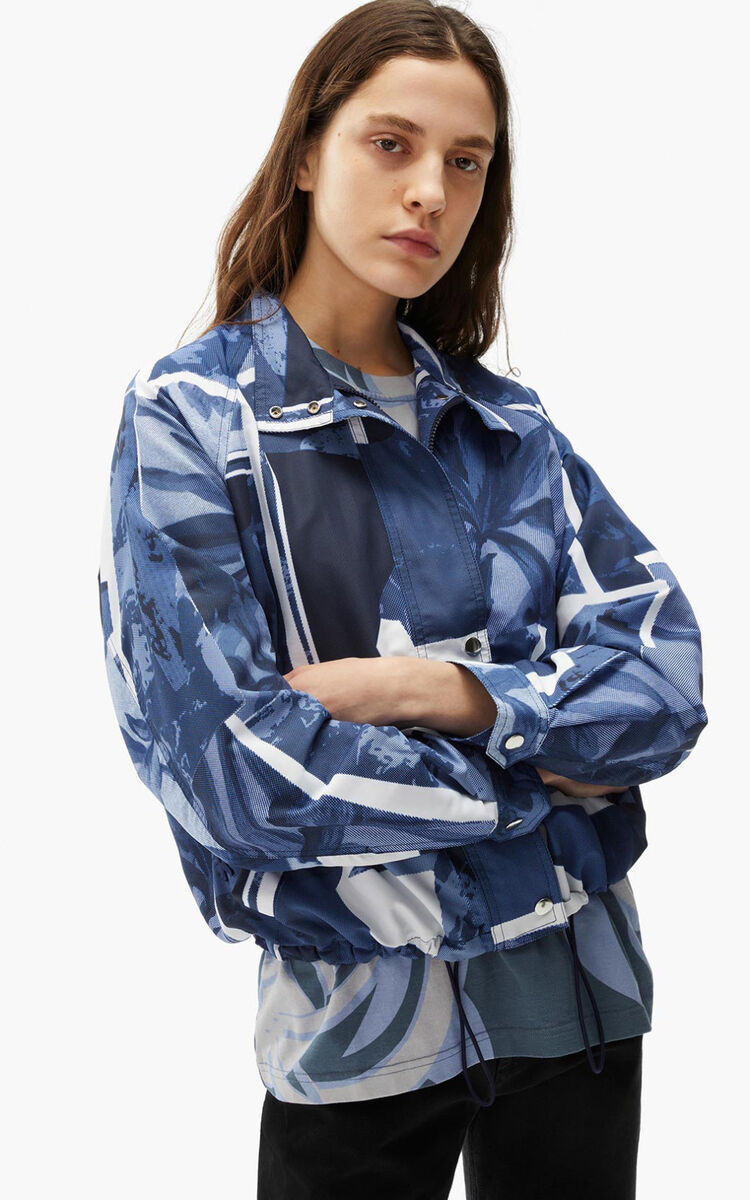 CYAN Printed windbreaker for women KENZO