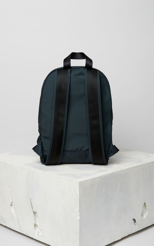 DARK GREY Medium Tiger Canvas backpack for men KENZO