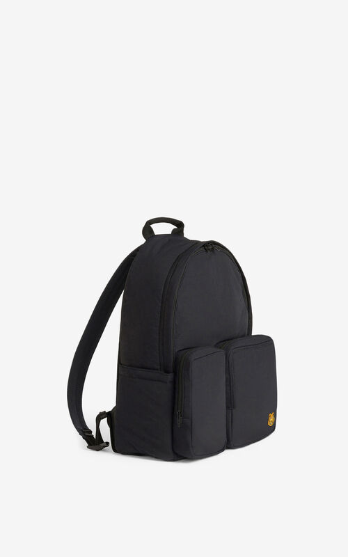 BLACK Tiger Crest rucksack for unisex KENZO