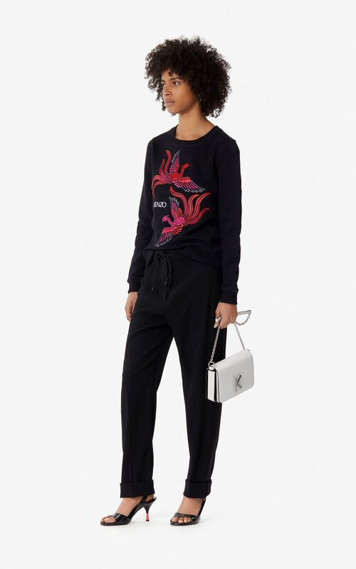 BLACK 'Flying Phoenix' sweatshirt for women KENZO