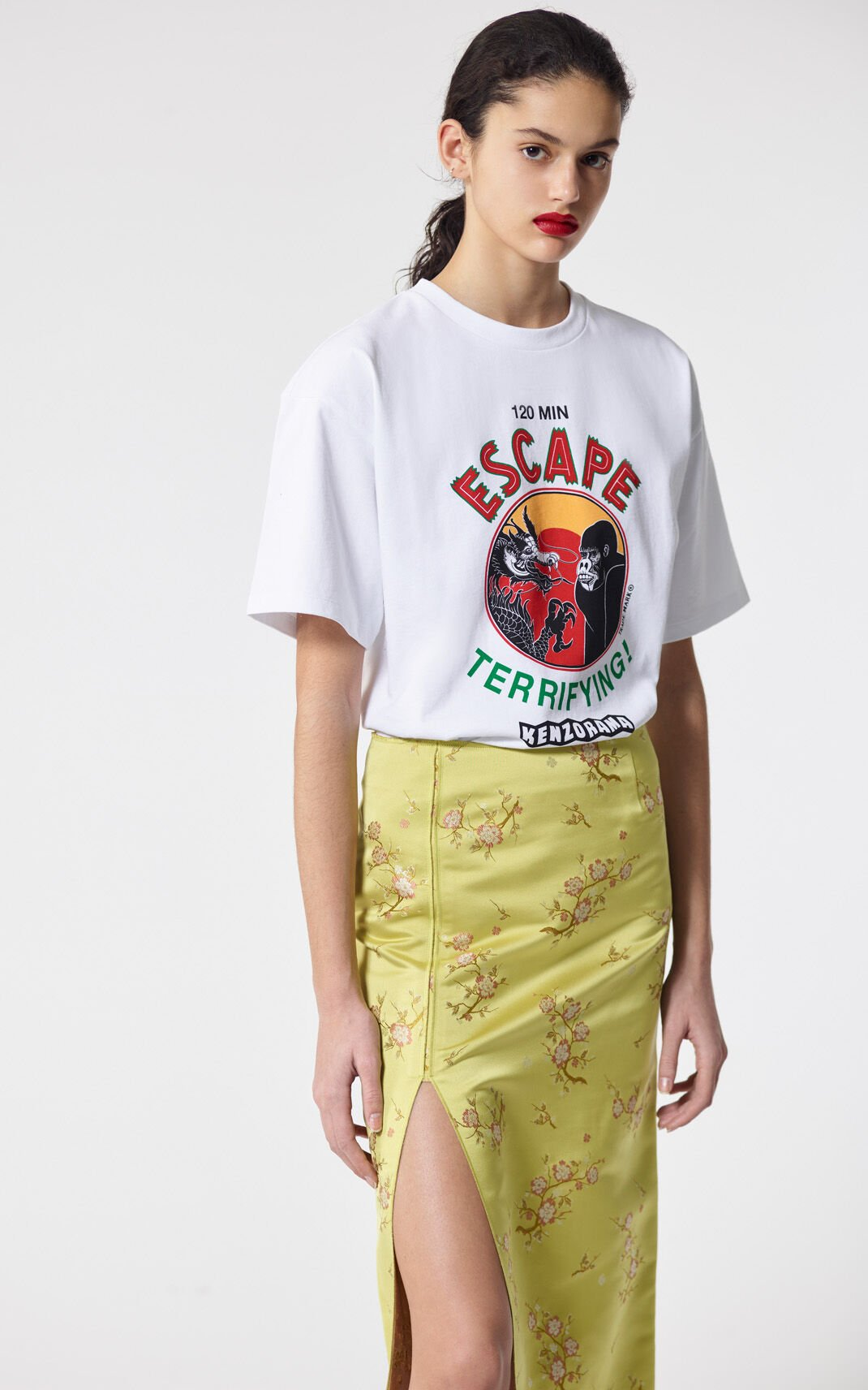 WHITE 'Escape' t-shirt for women KENZO