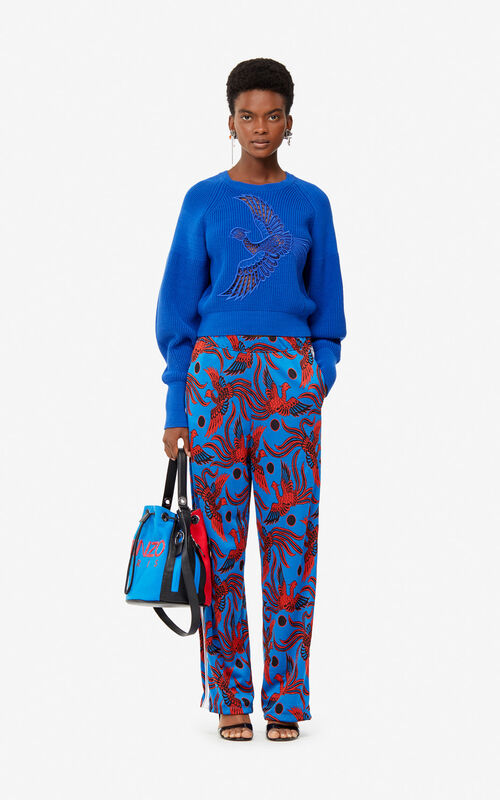 COBALT 'Flying Phoenix' jacquard trousers for women KENZO