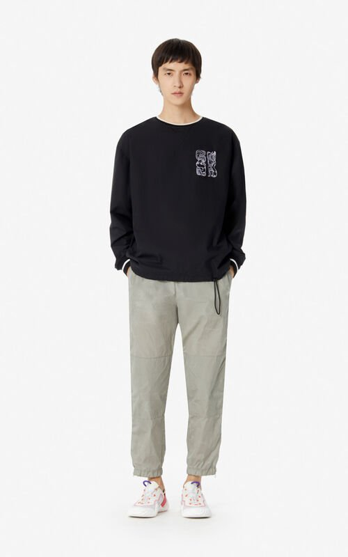 BLACK 'Mermaids' sweatshirt for men KENZO