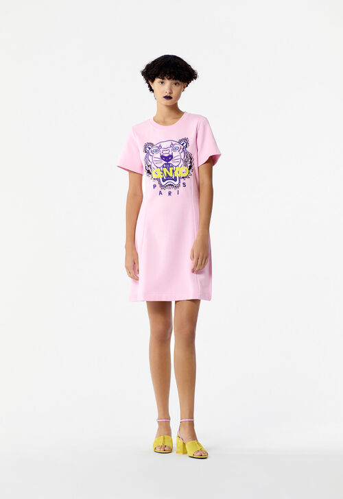 FLAMINGO PINK Tiger sweatshirt dress for women KENZO