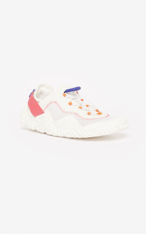 WHITE Wave sneakers for unisex KENZO