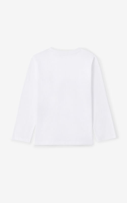 WHITE 'Ventura' long-sleeved T-shirt for unisex KENZO