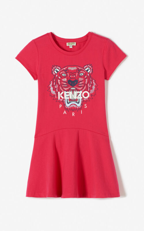 DEEP FUSCHIA Tiger skater dress KENZO
