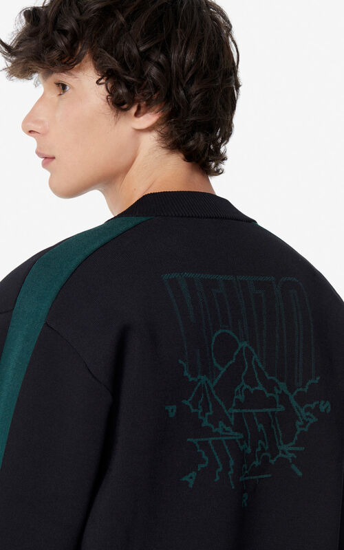 BLACK 'KENZO Mountain' varsity jacket for men