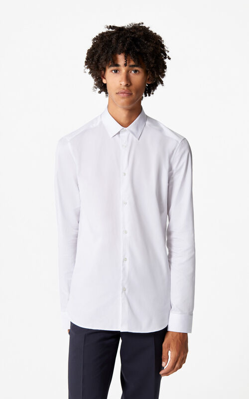 WHITE Cotton Business Shirt for men KENZO