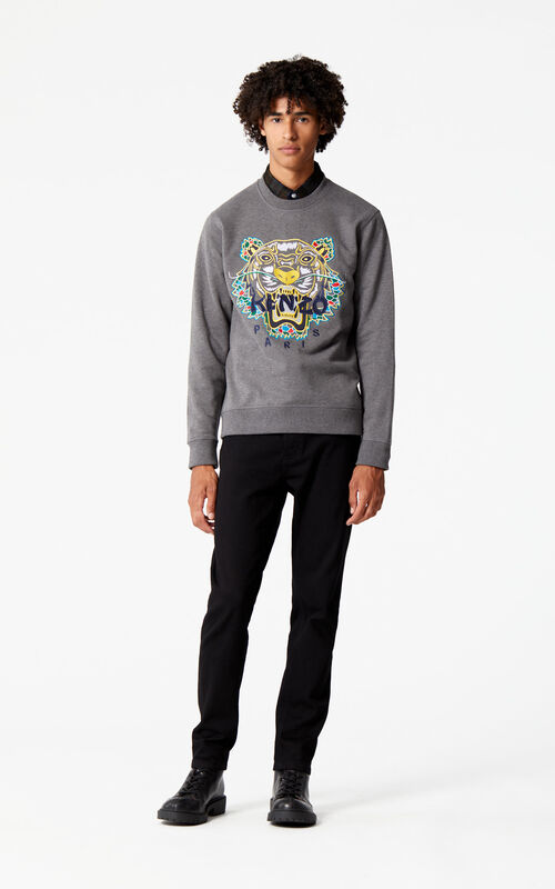 DARK GREY 'Dragon Tiger' Sweatshirt for men KENZO