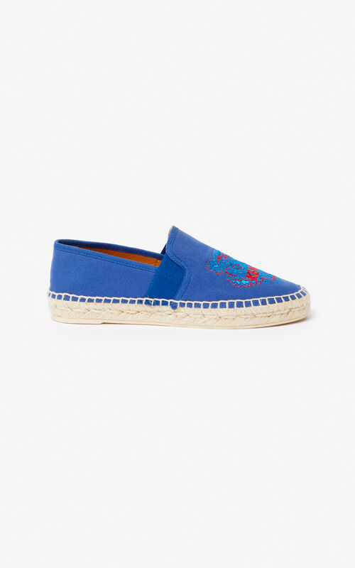 FRENCH BLUE Tiger elasticated espadrilles for men KENZO