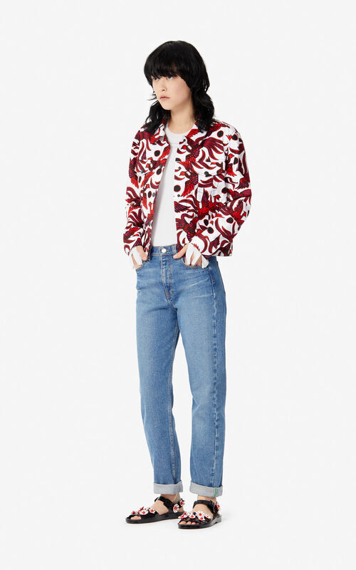 MEDIUM RED 'Flying Phoenix' jacket for women KENZO