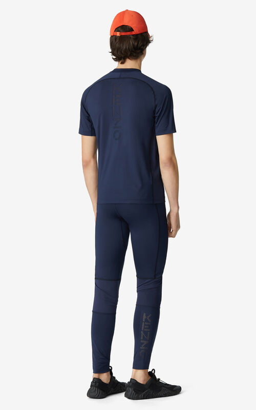 MIDNIGHT BLUE KENZO Sport slim-fit T-shirt  for men