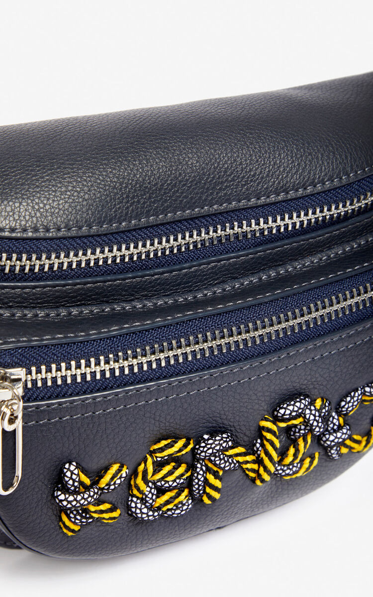 NAVY BLUE Kontrast belt bag for unisex KENZO