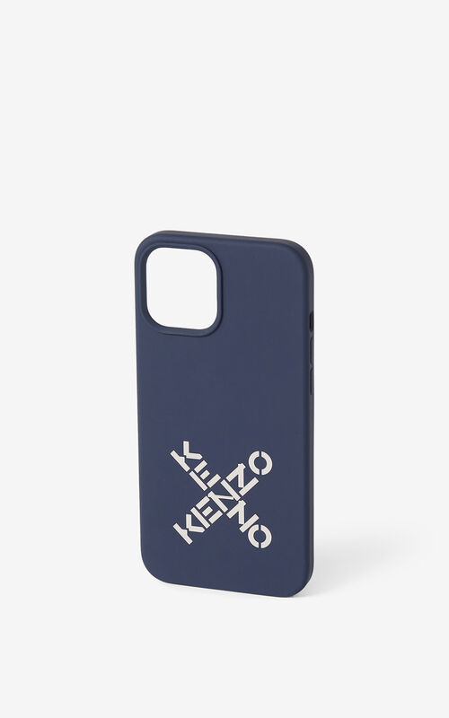NAVY BLUE iPhone 12 Pro Max case for unisex KENZO
