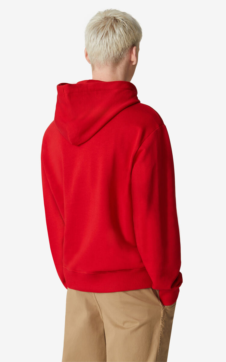 CHERRY Tiger hooded sweatshirt for men KENZO