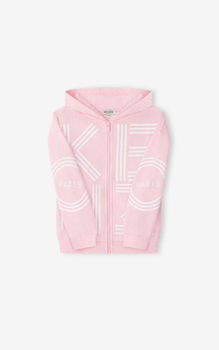 ROSE KENZO Logo zipped sweatshirt  for women