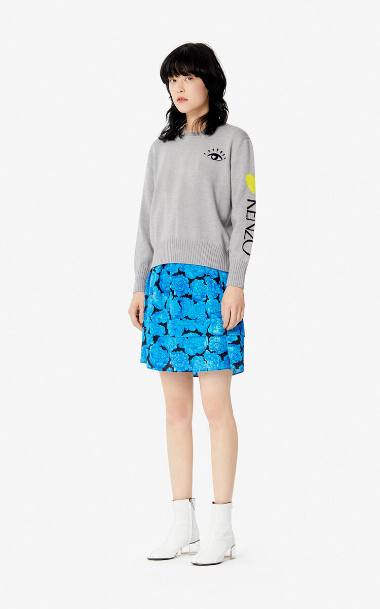 PALE GREY 'Cupid' jumper for women KENZO