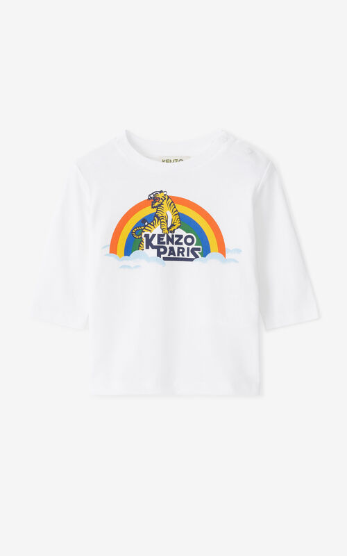 WHITE KENZO 'Ventura' long-sleeved T-shirt for unisex