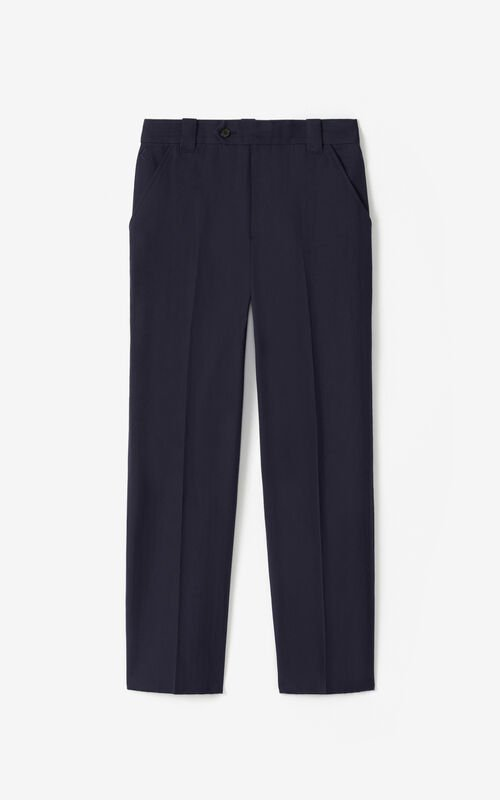 NAVY BLUE K cropped trousers for unisex KENZO