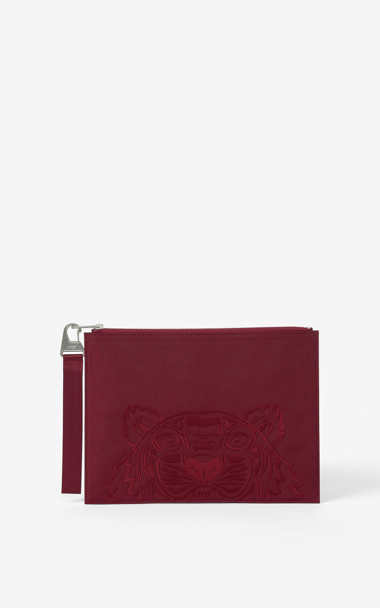 CARMINE Large canvas Kampus Tiger pouch for unisex KENZO