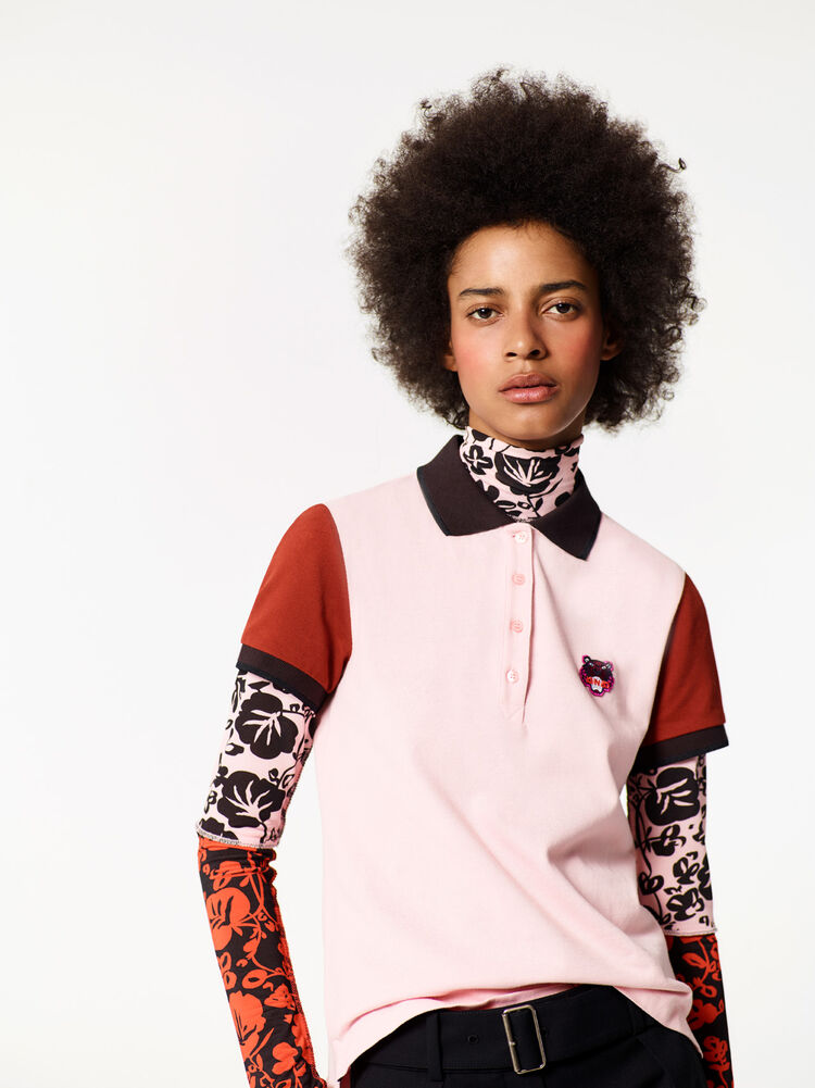 FADED PINK Tiger Polo Shirt for women KENZO