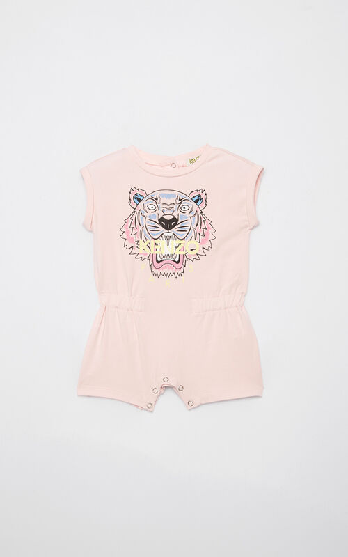 PASTEL PINK Tiger playsuit for women KENZO
