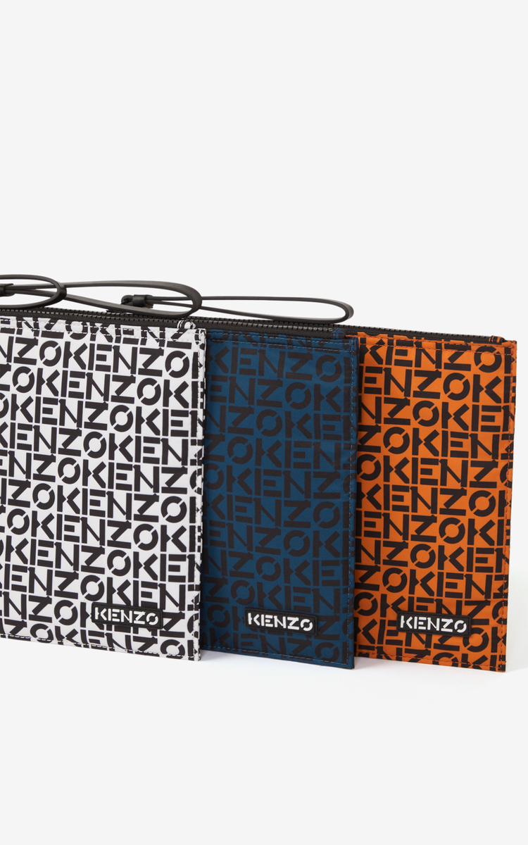 OFF WHITE KENZO Repeat large clutch for unisex