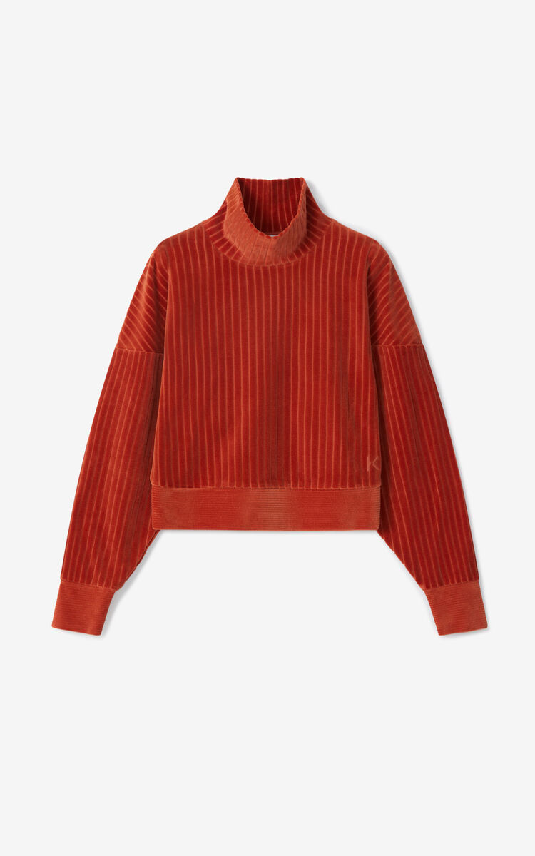 COGNAC Corduroy sweatshirt for women KENZO