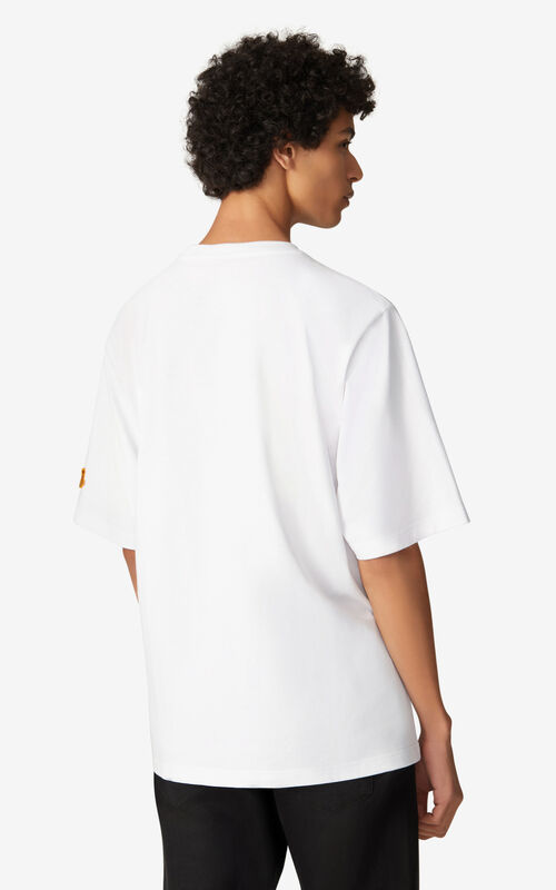 WHITE K-Tiger oversized T-shirt for women KENZO