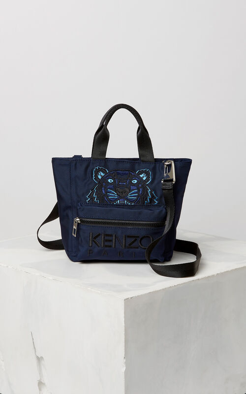 NAVY BLUE Mini Tiger tote bag for women KENZO