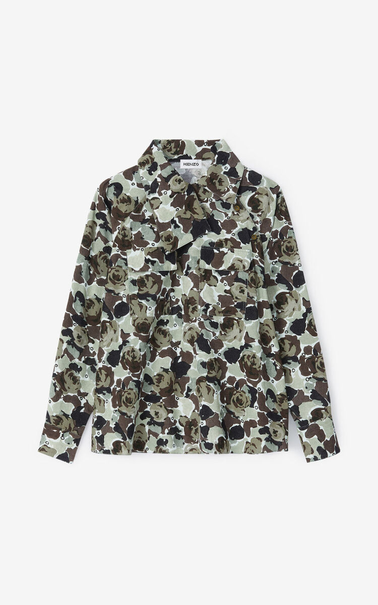 OLIVE 'Rose Camo' shirt for men KENZO