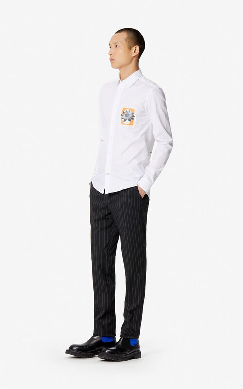 3c53dd34 ... WHITE 'Passion Flower' slim-fit shirt for men KENZO. '
