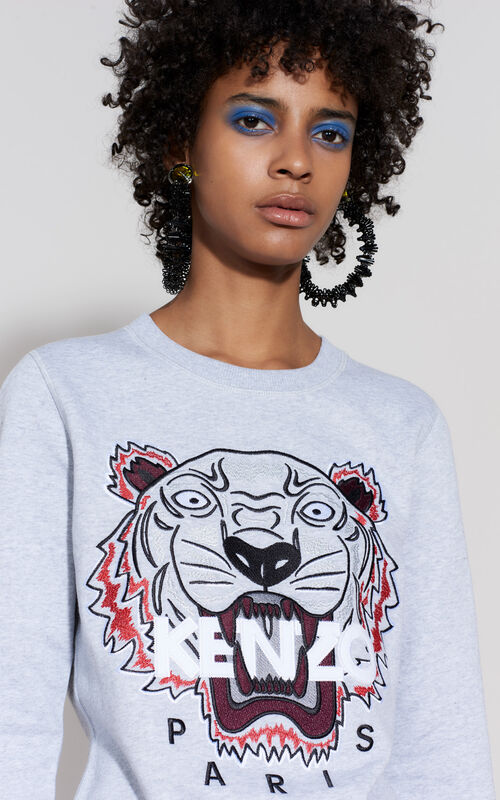 PALE GREY Tiger sweatshirt for women KENZO