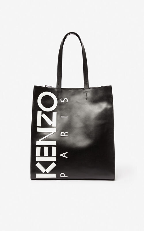 871a9031829 BLACK KENZO logo tote bag for unisex ...