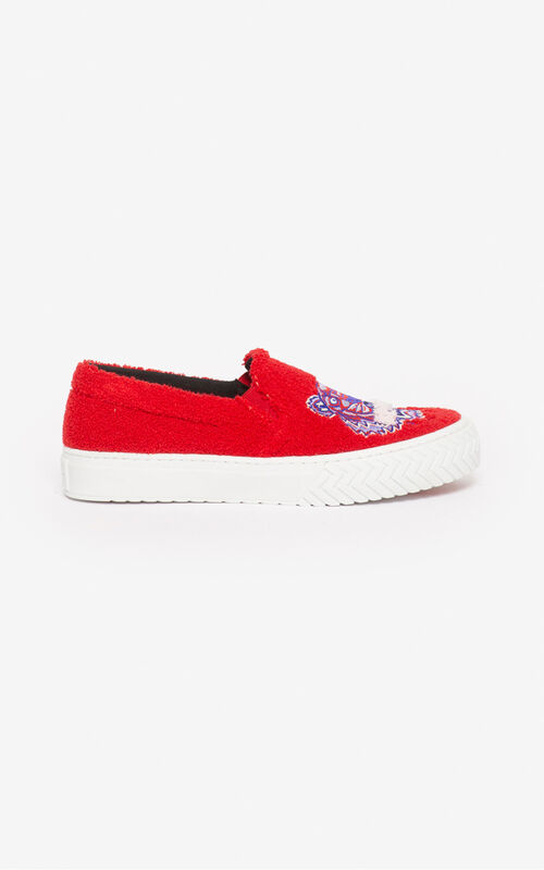 CHERRY 'Tiger Towel' K-Skate slip-ons for unisex KENZO