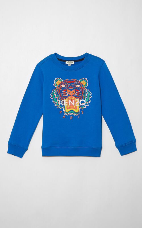 FRENCH BLUE Tiger Sweatshirt for global.none KENZO