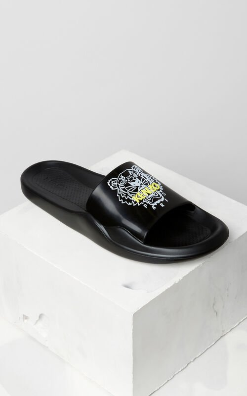 BLACK Tiger sandals for men KENZO