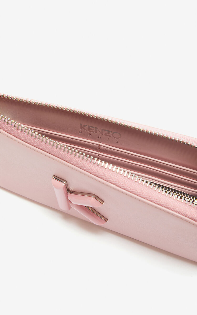 FADED PINK Slim Zip Wallet Kandy for unisex KENZO