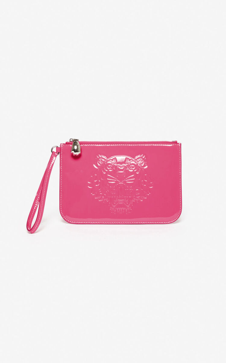 DEEP FUSCHIA A5 Tiger clutch for unisex KENZO