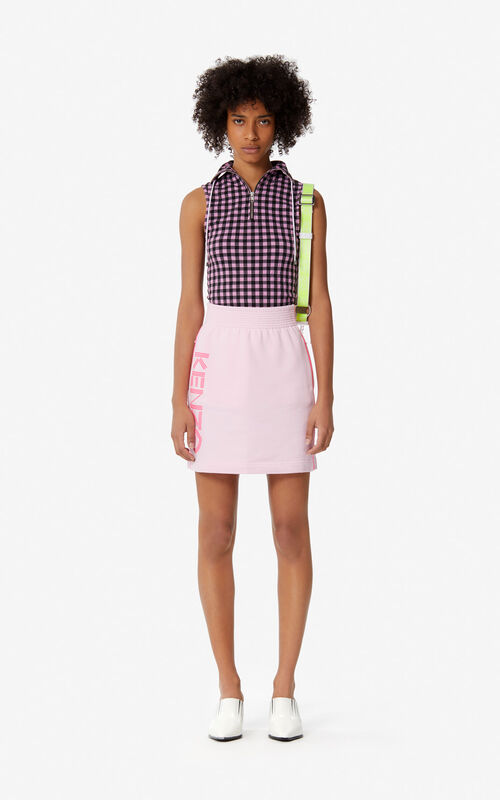 PASTEL PINK KENZO Logo skirt for women