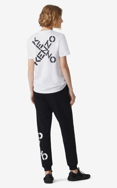 WHITE KENZO Sport 'Triple X' loose T-shirt for women