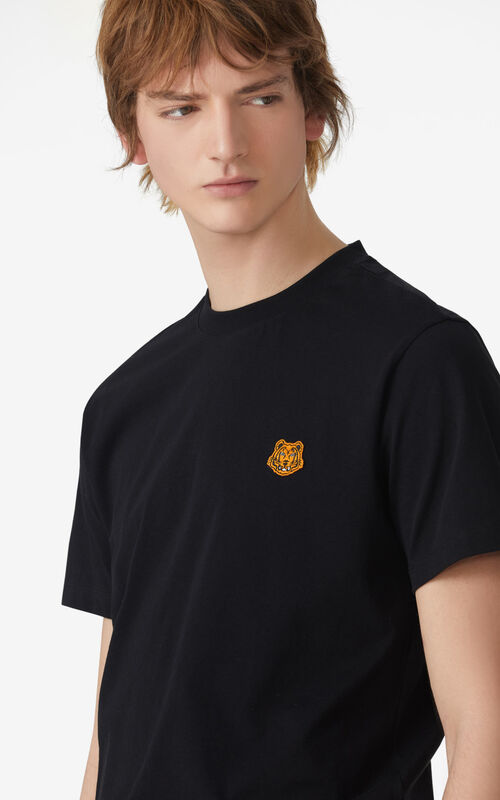 BLACK Tiger Crest t-shirt for men KENZO